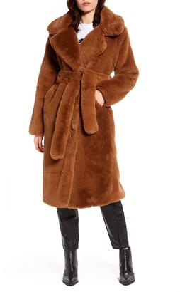 NA-KD Longline Faux Fur Coat