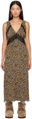 Anna Sui Multicolor Penny Lane Sleeveless Dress