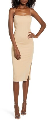 4SI3NNA the Label Soren Sleeveless Side Slit Dress