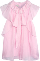 Temperley London Allure Ruffled Silk-chiffon Blouse - Pink