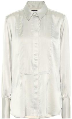ALEXACHUNG Satin shirt