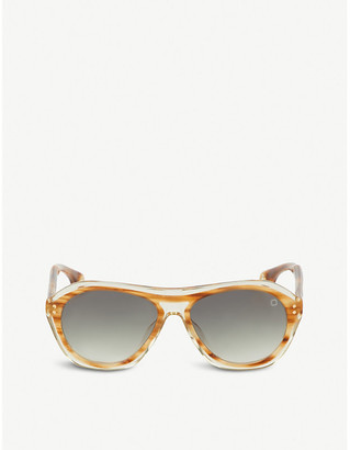 BLAKE KUWAHARA Renwick acetate aviator sunglasses