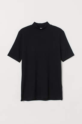 H&M T-shirt with a stand-up collar