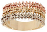 Imperial Gold Wheat Tri-Color Band Ring,14K Gold