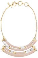 Alexis Bittar Colorblock Crescent Howlite Bib Necklace, Sunset