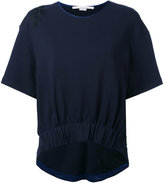 Stella McCartney feather embroidered t-shirt - women - Cotton/Polyamide/Viscose - 38