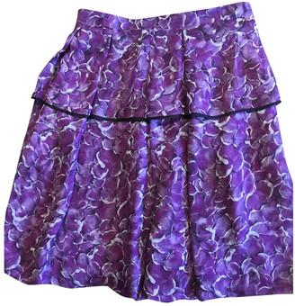 Saint Laurent Purple Silk Skirts