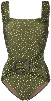 Adriana Degreas mille punti polka dot swimsuit
