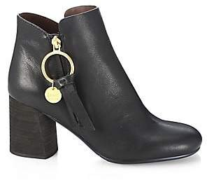 See by Chloe Women's Louise Block-Heel Leather Ankle Boots