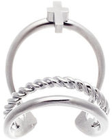 Lord & Taylor Sterling Silver Tri-Band Cross Ring