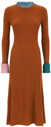 Lanvin Ribbed Knit Crewneck Jumper Dress