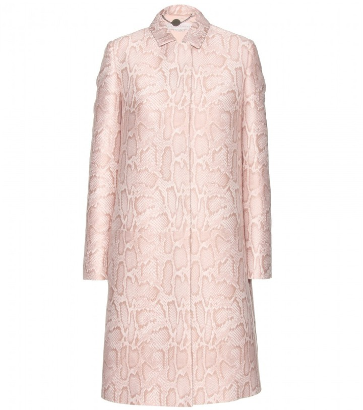 Stella McCartney Kevin python-jacquard coat