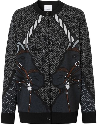 Burberry Intarsia Unicorn Cardigan