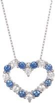 LeVian Suzy Sterling Silver Sapphire Open Heart Pendant Necklace