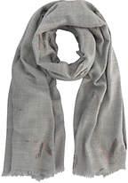 Mint Velvet Foiled Bird Blanket Scarf, Grey/Silver