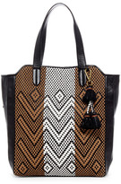Elliott Lucca Marcel Woven Leather Tote