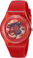Swatch Women's SUOR101 Plastic Skeletal Dial Watch