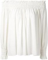 Norma Kamali off-the-shoulder blouse - women - Polyester/Spandex/Elastane - XS
