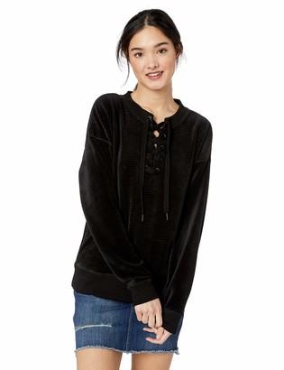 Roxy Junior's Lucky Sunshine Velour Ribbed Sweatshirt