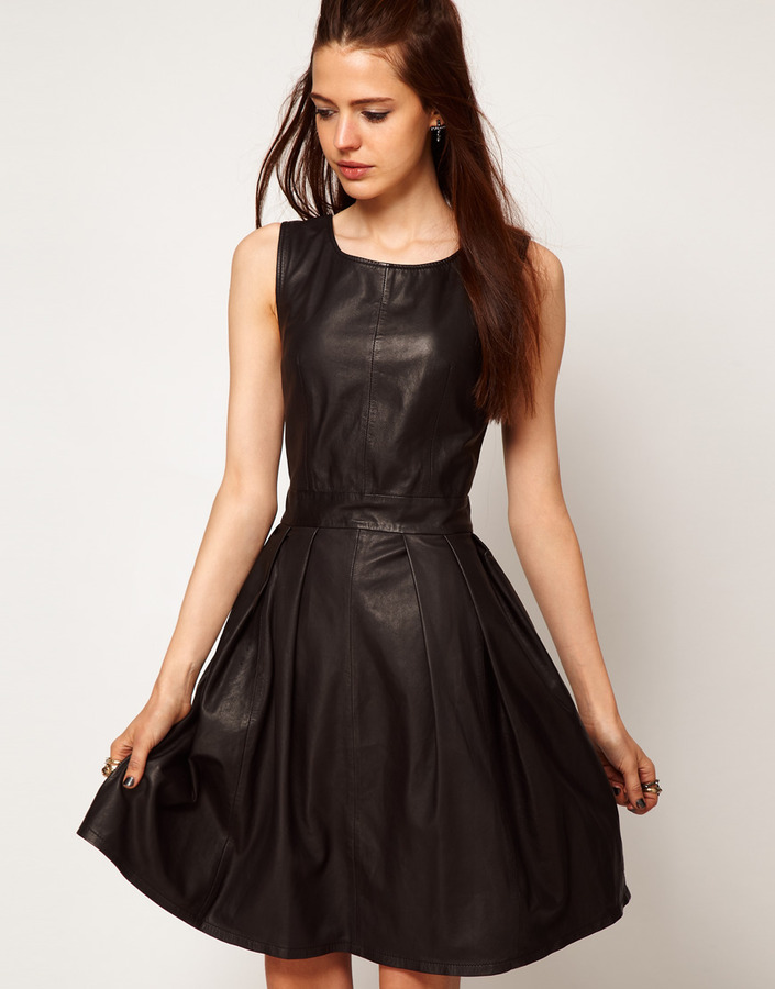 Just Female Leather Dress