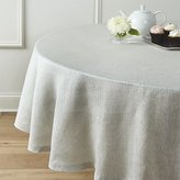 "Crate & Barrel Aurora Linen 90"" Round Tablecloth"