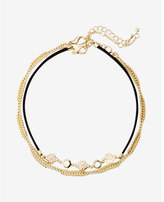 Express set of two filigree twist chain choker necklaces