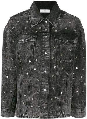 Sandro Paris embellished denim jacket