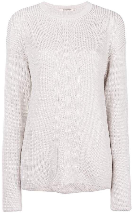 Roberto Cavalli open back sweater