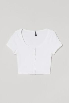 H&M Short Jersey Top