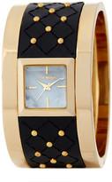 Steve Madden Women's Studded Leather Cuff Watch