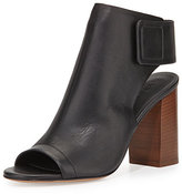 Vince Faye Open-Toe Leather Bootie