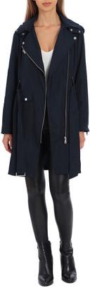 AVEC LES FILLES Water-Resistant Trench Coat