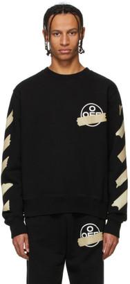 Off-White Black and Beige Tape Arrows Sweatshirt