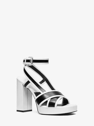 Michael Kors Janie Patent Leather Platform Sandal