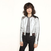 Maje Metallic leather jacket