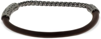 Marco Dal Maso Half Chain & Half Leather Bracelet