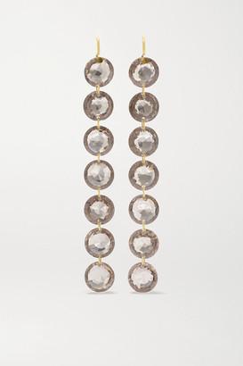 Marie Helene De Taillac Rivieres 18-karat Gold Quartz Earrings - Brown