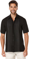 Cubavera Big & Tall Short Sleeve Ombre Embroidered Shirt