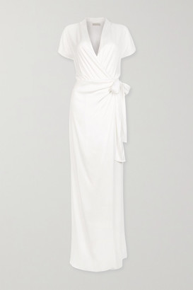 Vanessa Cocchiaro The Lady Draped Matte-satin Wrap Gown - White