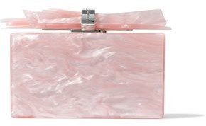 Edie Parker Wolf Marbled Acrylic Box Clutch