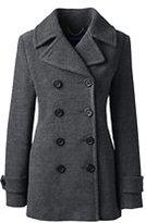 Classic Women's Wool Peacoat-Charcoal Heather