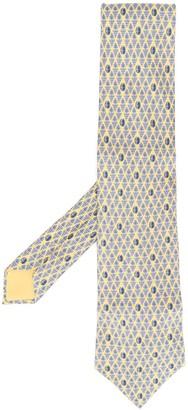 Hermes 2000s pre-owned grape print tie