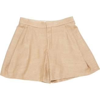 Chloé \N Beige Silk Shorts