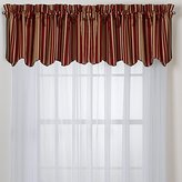 """Hudson Red Valance made of 100% polyester, 52"""" W x 17"""" L."""