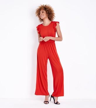 New Look Mela Frill Sleeve Jumpsuit