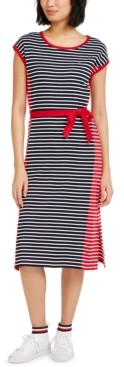Tommy Hilfiger Stripe Knit Skater Dress Robe B/éb/é Fille