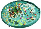 Homecube Large 59 Inches Diameter Baby Kids Play Floor Mat Toy Storage Bag Organizer Green