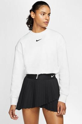 Nike Swoosh Crew Neck Cropped Sweatshirt