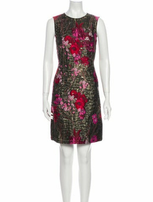 Dolce & Gabbana Printed Knee-Length Dress Red