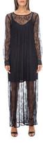 Gold Hawk Chantilly Lace Long Dress